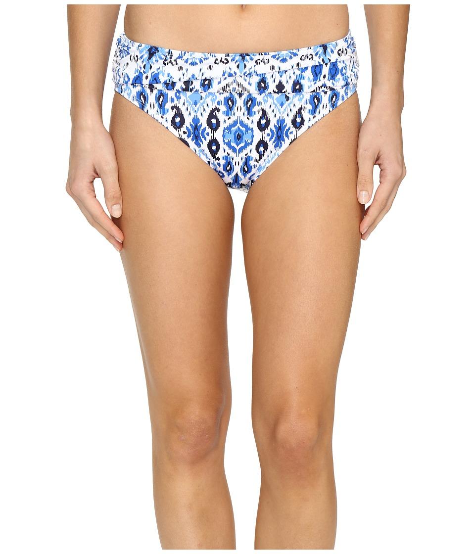 Tommy Bahama Ikat High-Waist Sash Bikini Bottom (Vivid Blue) Women