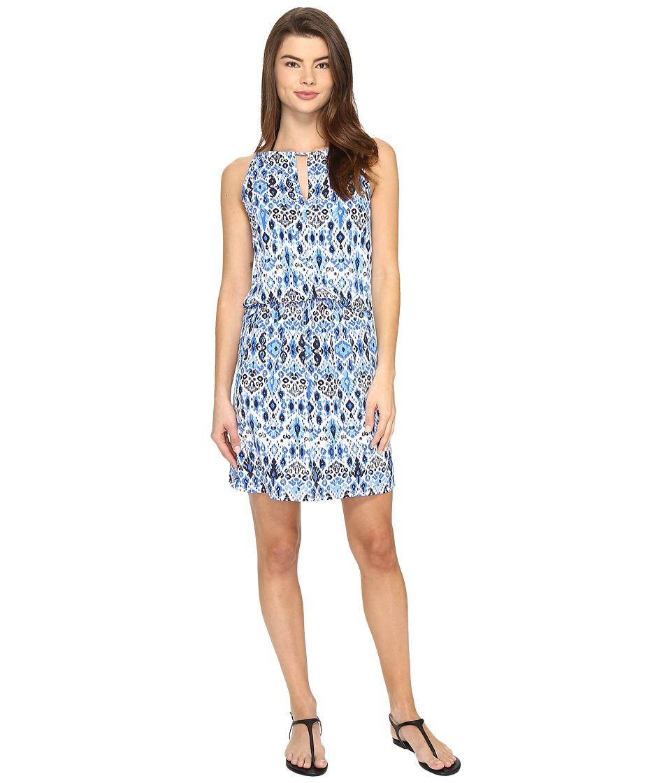 Tommy Bahama Ikat High Neck Short Dress Cover-Up (Vivid Blue) Women