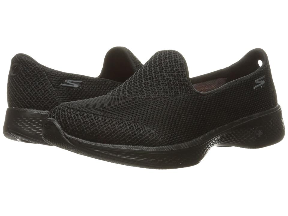 SKECHERS Performance - Go Walk 4 - Propel (Black) Womens Shoes