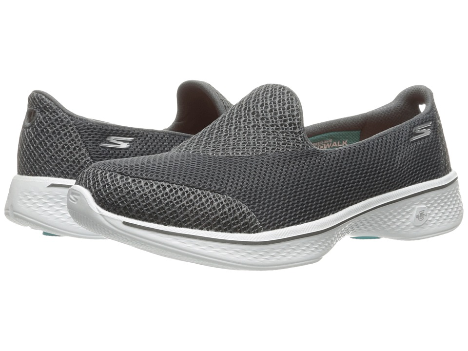 SKECHERS Performance - Go Walk 4 - Propel (Charcoal) Womens Shoes