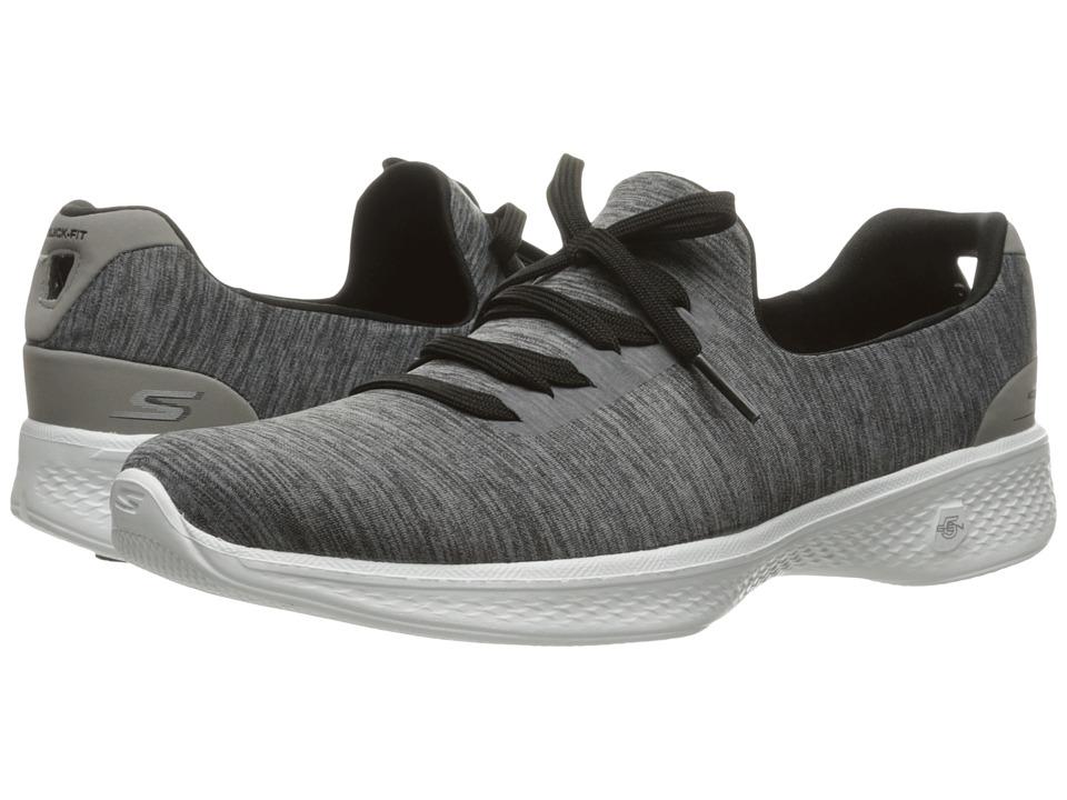 SKECHERS Performance - Go Walk 4 - A.D.C. (Gray/Black) Womens Shoes