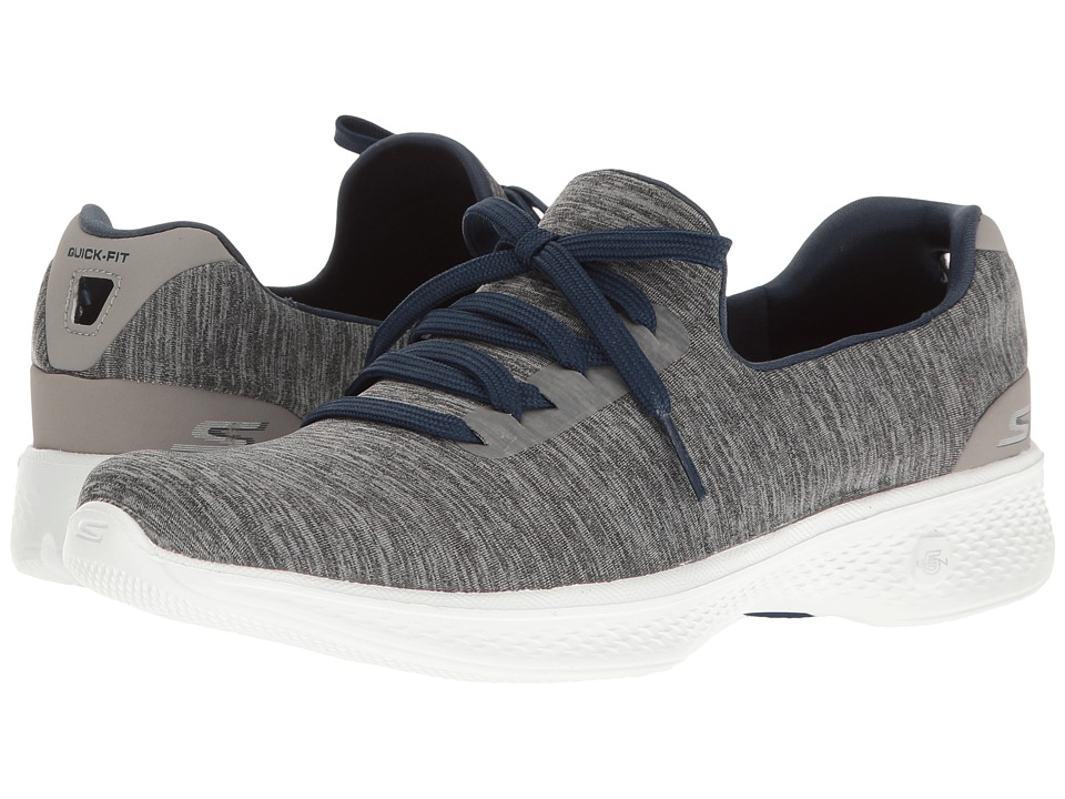 SKECHERS Performance Go Walk 4 A.D.C. (Gray/Navy) Women