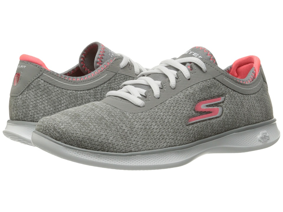 SKECHERS Performance Go Step Lite (Gray/Pink) Women