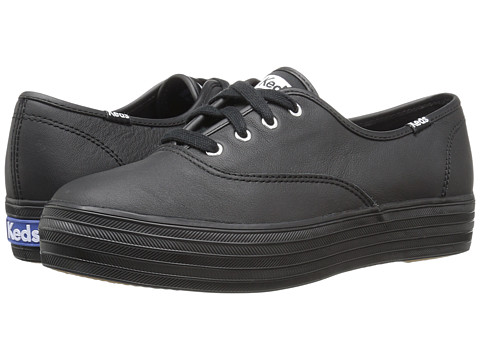 Keds Triple Leather - Black/Black