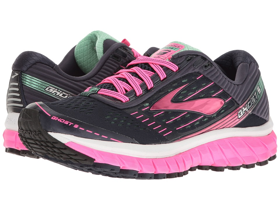 Brooks Ghost 9 (Peacoat Navy/Knockout Pink/Spring Bud) Women