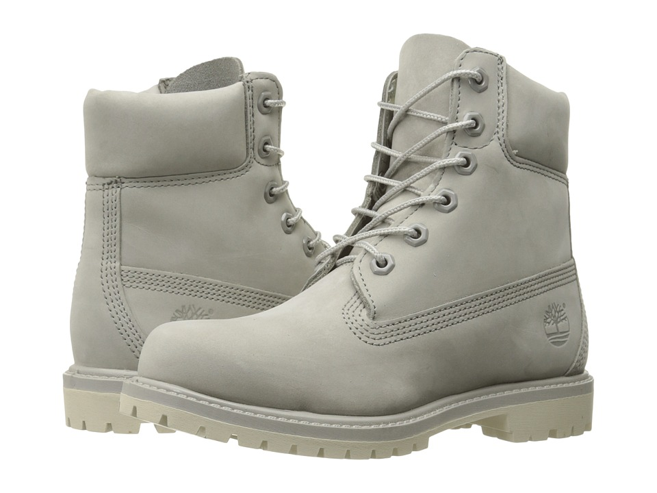 Timberland 6 Premium Boot (Light Grey Nubuck 2) Women