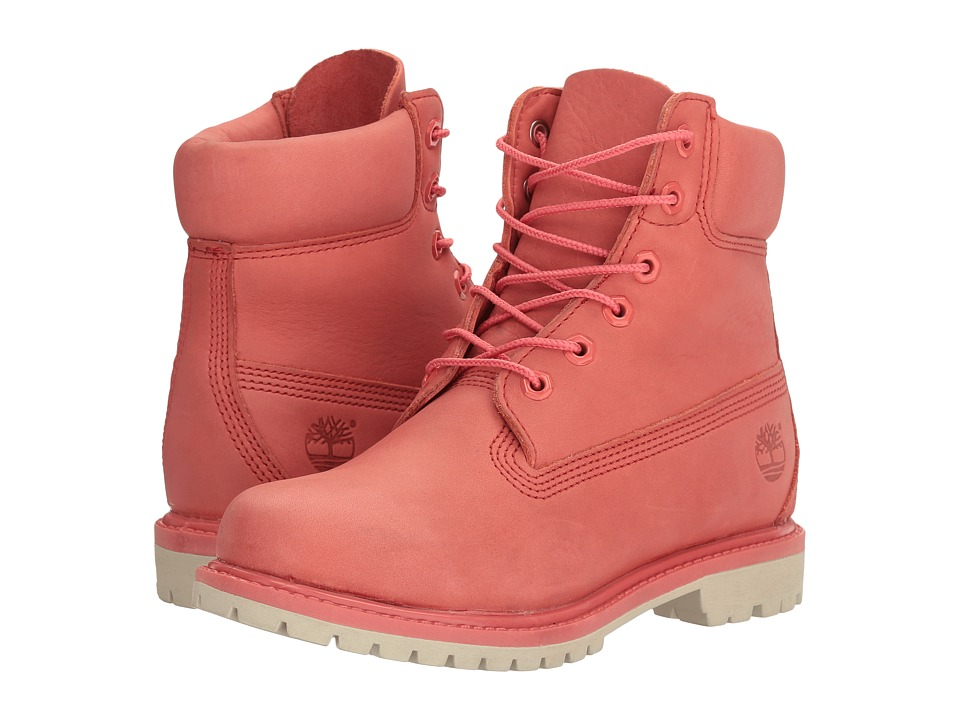 Timberland 6 Premium Boot (Dark Pink Full Grain) Women