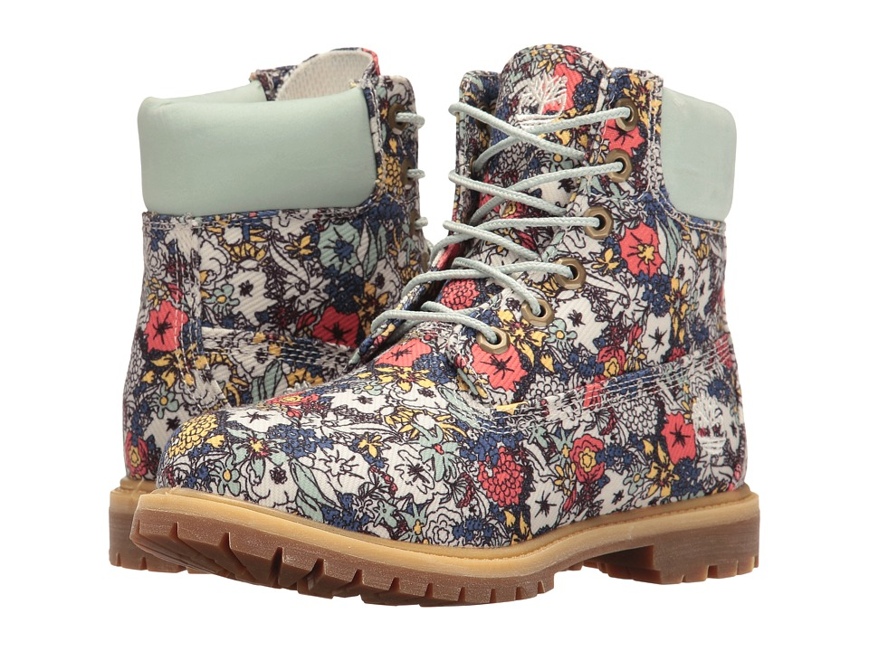 Timberland Icon Fabric Boot (Light Green/Floral Canvas) Women