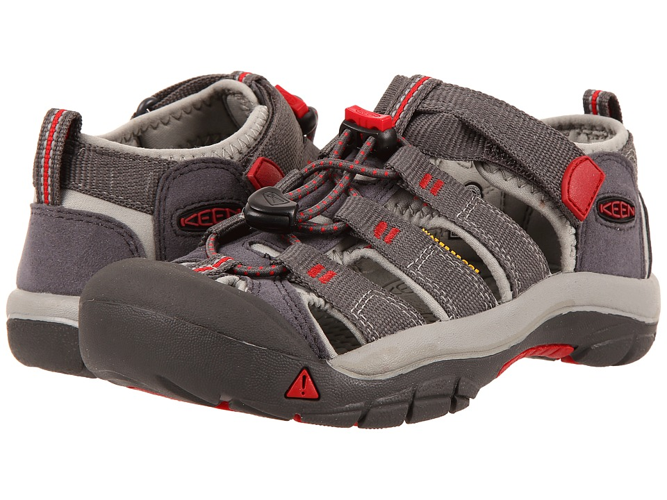Keen Kids Newport H2 (Little Kid/Big Kid) (Magnet/Tango Red) Kids Shoes