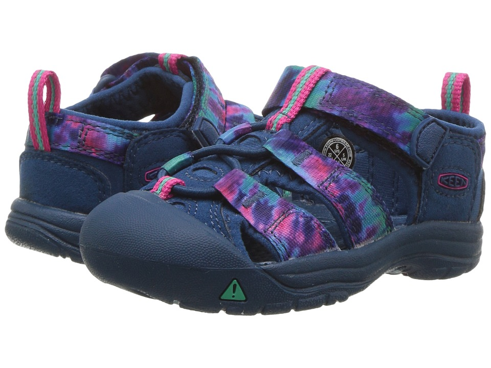 Keen Kids Newport H2 (Toddler) (Navy Tye-Dye) Girls Shoes