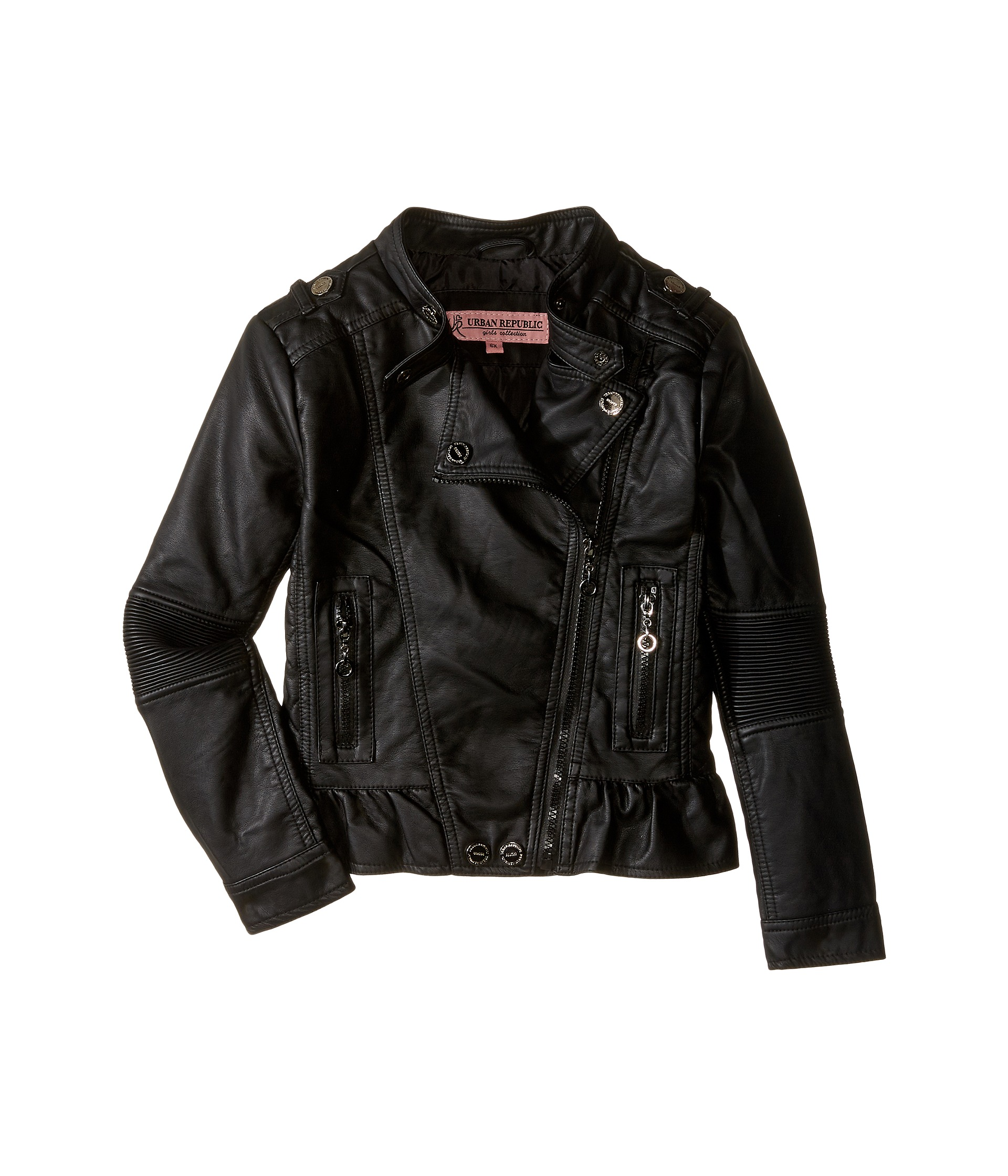 Black leather jackets for kids