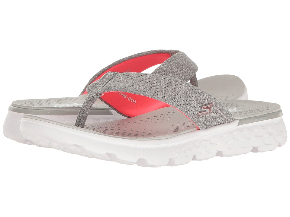 SKECHERS Performance - On-The-Go 400 - Vivacity (Gray/Pink) Women's Sandals