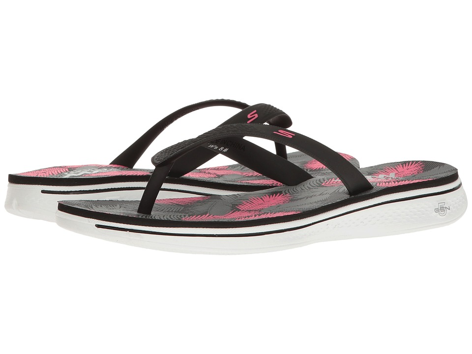 SKECHERS Performance - H2 Goga (Black/Pink) Womens Sandals