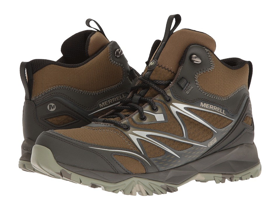Merrell Capra Bolt Mid Waterproof (Dark Olive) Men