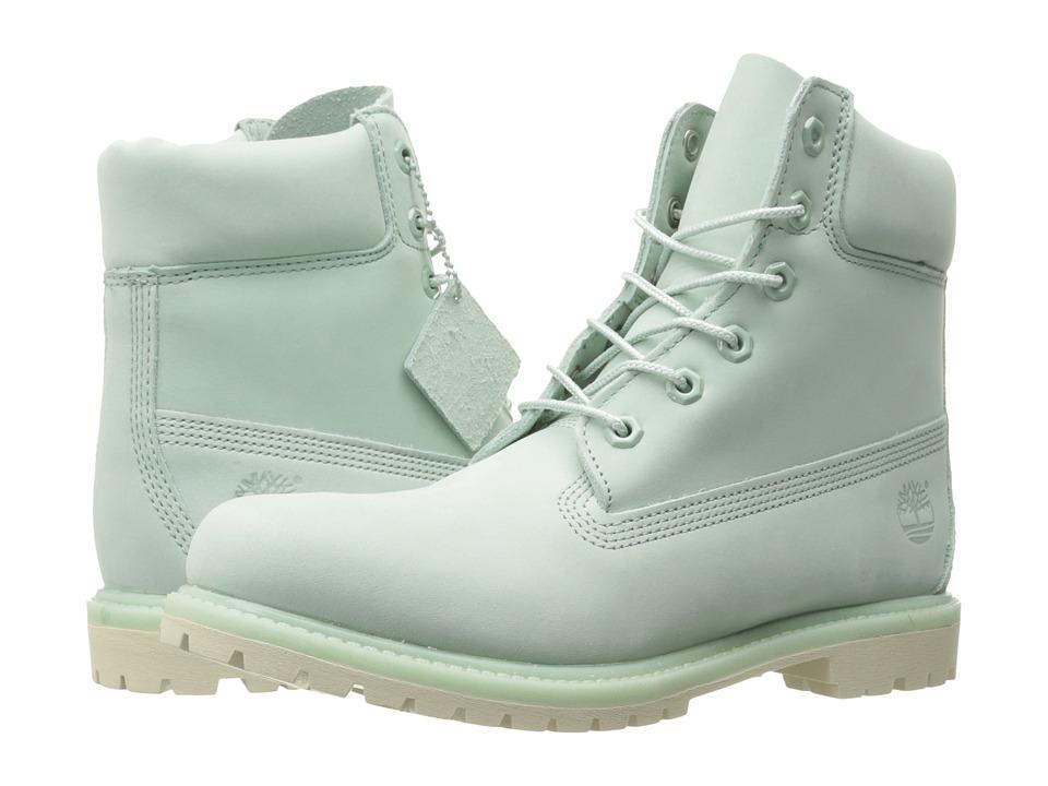 Timberland 6 Premium Boot (Light Green Nubuck) Women