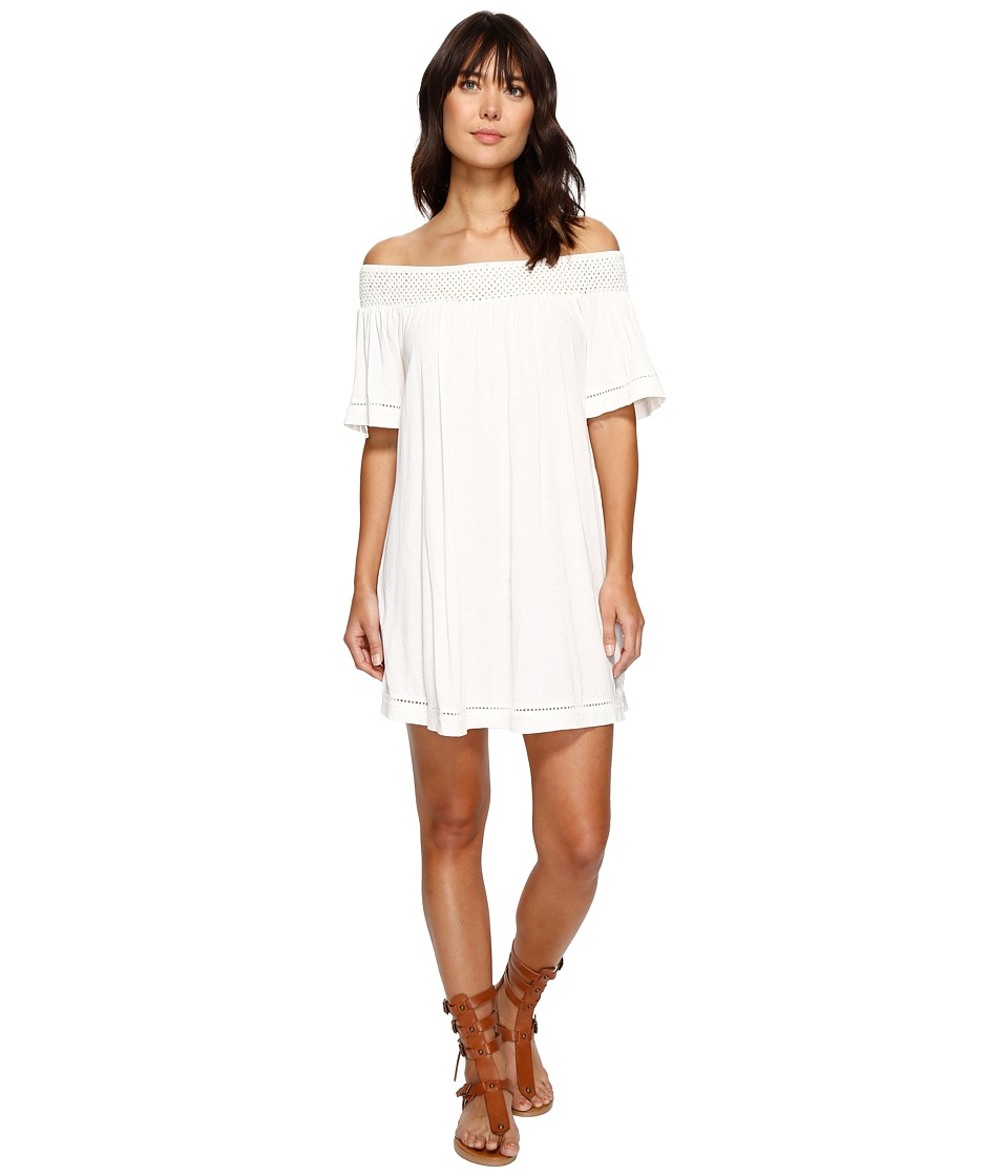 Roxy Moonlight Shadows Cold Shoulder Dress (Marshmallow) Women