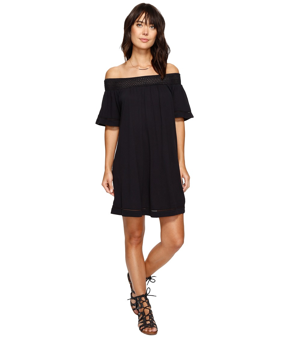 Roxy Moonlight Shadows Cold Shoulder Dress (Anthracite) Women