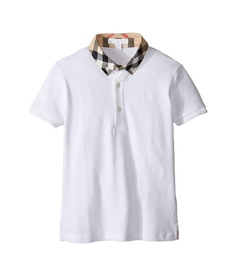 Burberry Kids William Check Collared Short Sleeve Shirt (Little Kids/Big Kids)