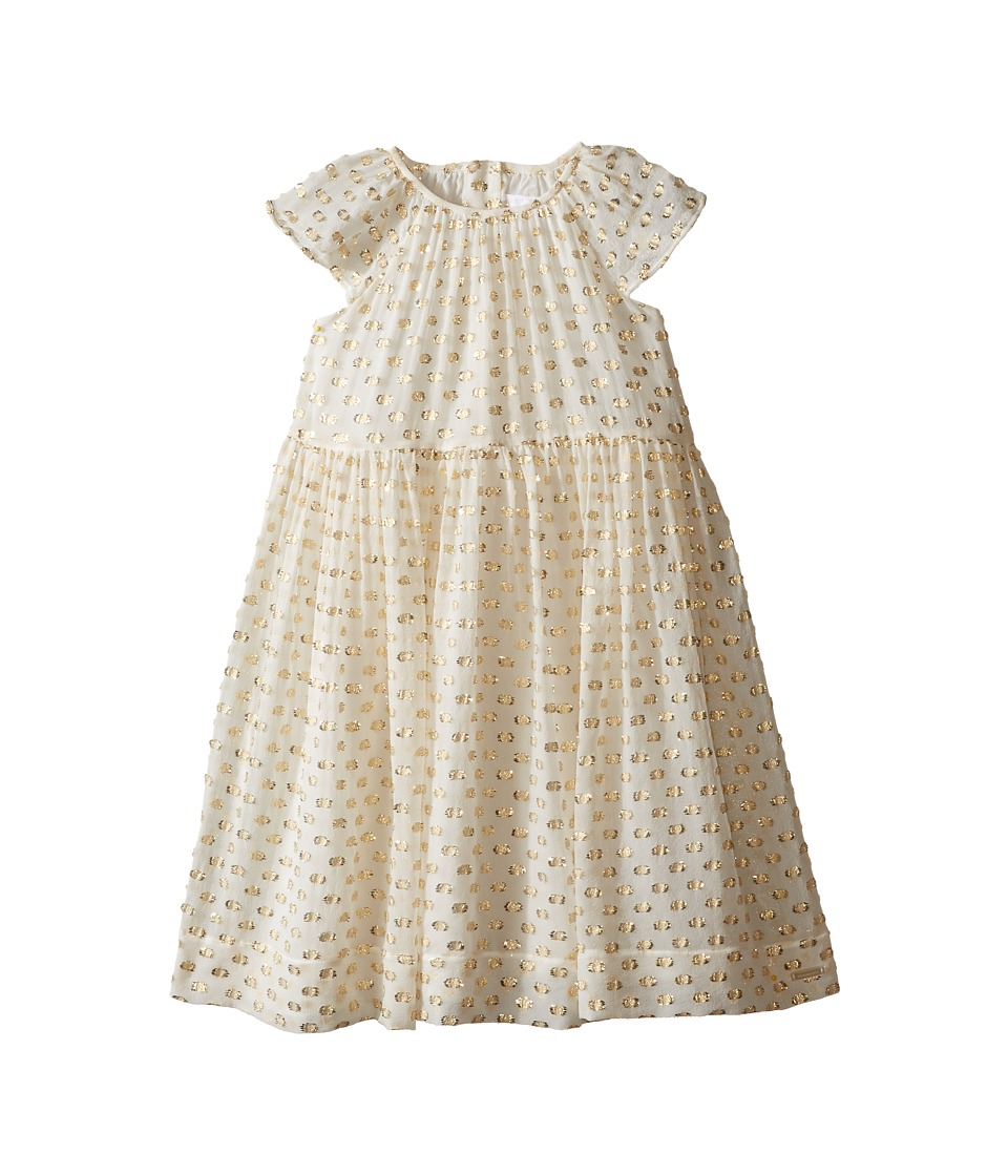 Burberry Kids - Trudy Short Sleeve Dress (Little Kids/Big Kids) (White/Gold) Girls Dress
