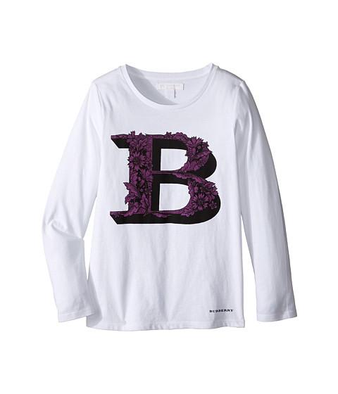 Burberry Kids Graphic Long Sleeve Top (Little Kids/Big Kids)