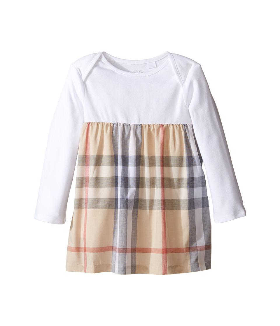 Burberry Kids - Cherrylina Long Sleeve Half Checked Dress...