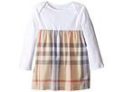 Burberry Kids Cherrylina Long Sleeve Half Checked Dress (Infant)