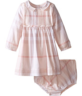 Burberry Kids - Liza Long Sleeve Checked Collared Dress (Infant)