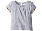 Burberry Kids Mini Gisselle Long Sleeve Checked Cuff Top (Infant/Toddler)