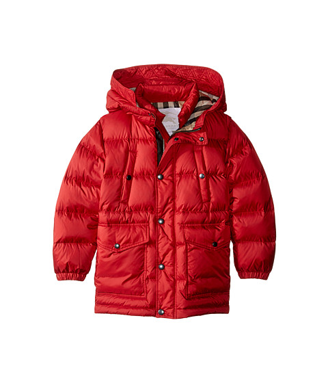 Burberry Kids Barnie Puffy Checked Hood Jacket (Little Kids/Big Kids)