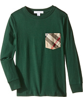 Burberry Kids - Checked Pocket Long Sleeve Top (Little Kids/Big Kids)