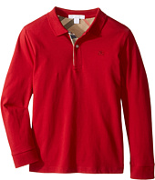 Burberry Kids - PPM Long Sleeve Polo (Little Kids/Big Kids)