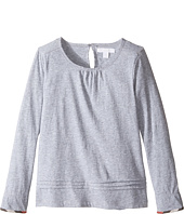 Burberry Kids - Giselle Long Sleeve Checked Cuff Top (Little Kids/Big Kids)