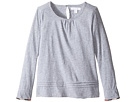 Burberry Kids Giselle Long Sleeve Checked Cuff Top (Little Kids/Big Kids)