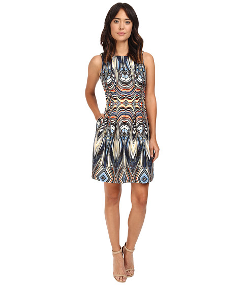 Christin Michaels Rogue Sleeveless Printed Scuba Dress