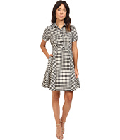 Christin Michaels - Allesia Plaid Button Up Dress