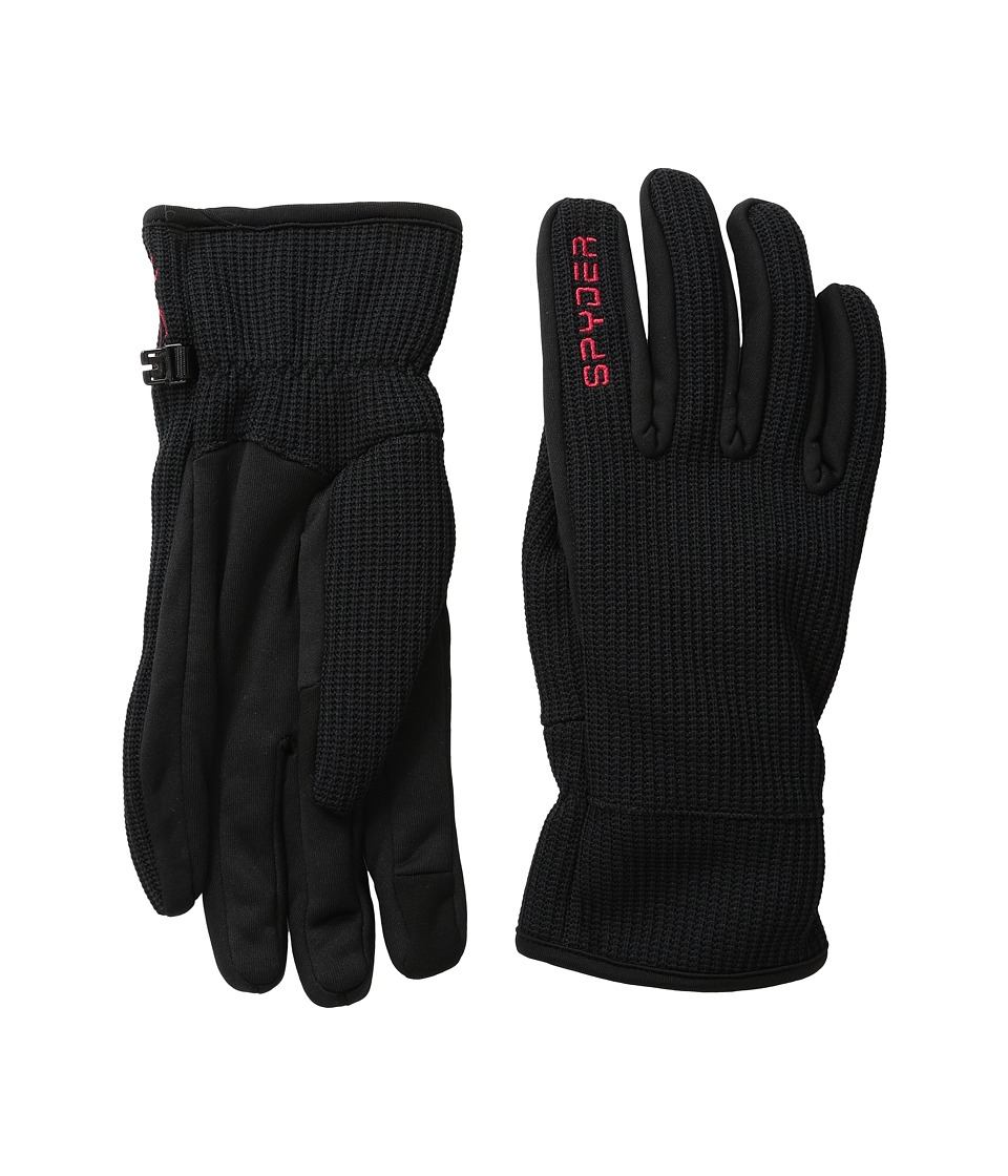 Spyder Core Sweater Conduct Glove (Black/Red) Ski Gloves