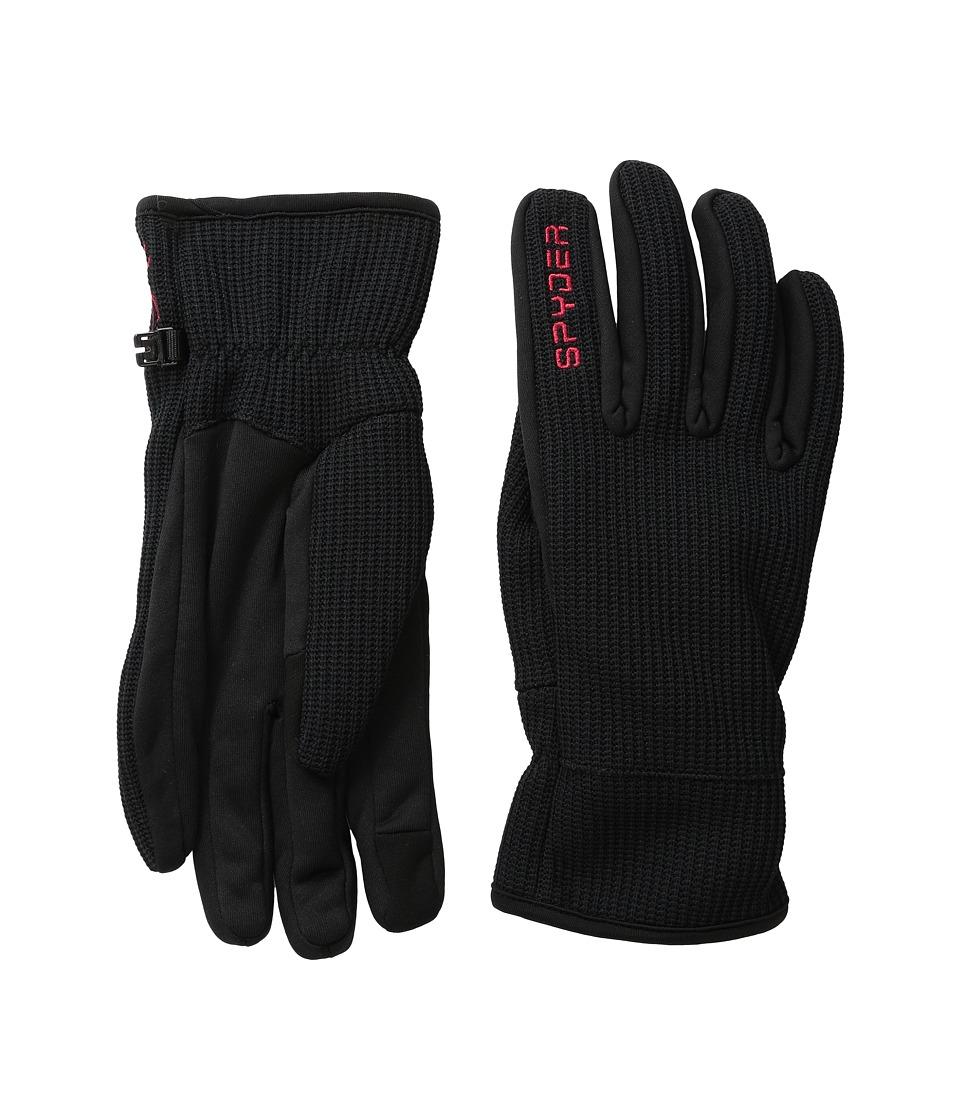 Spyder Core Sweater Conduct Glove (Black/Red) Ski Gloves