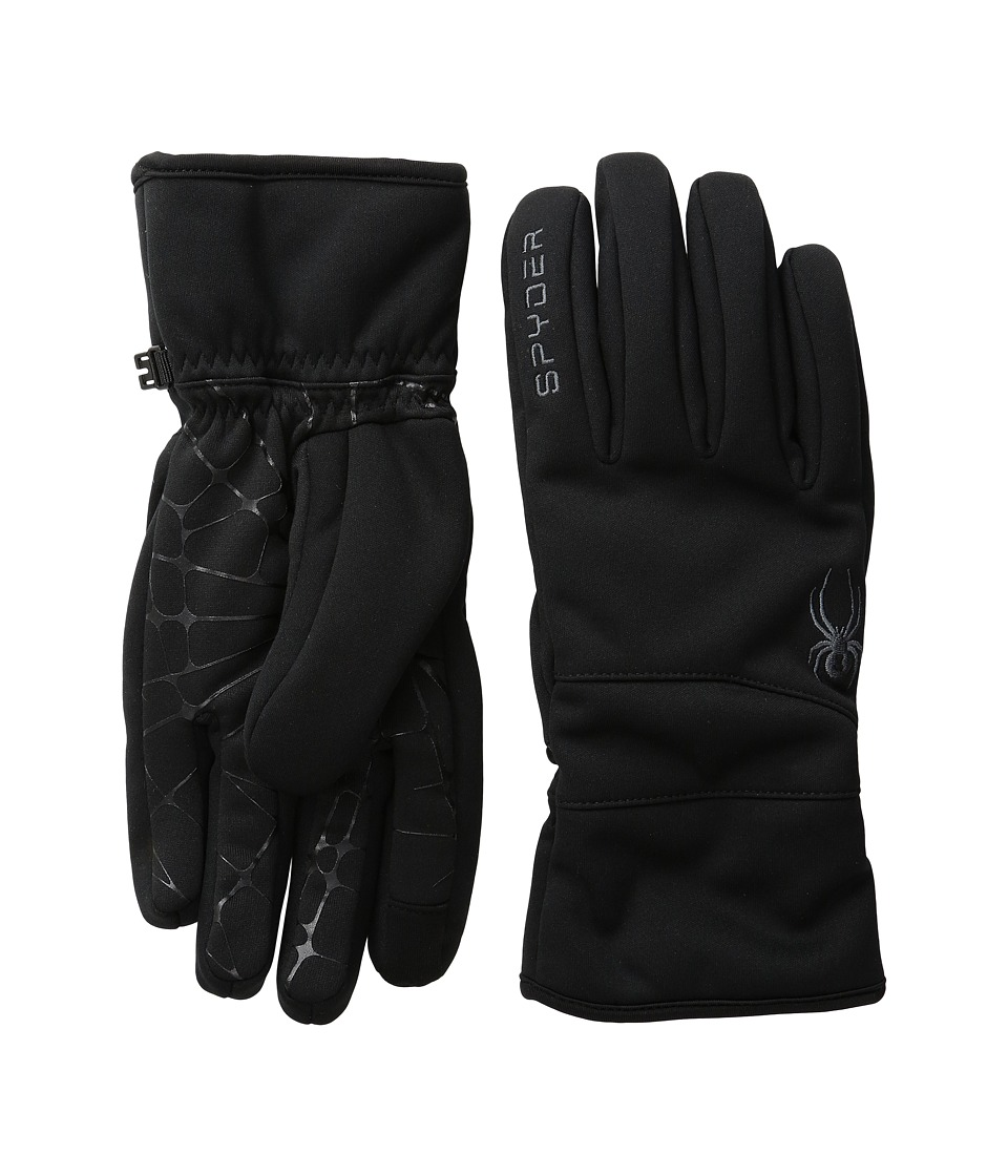 Spyder Facer Conduct Ski Glove (Black/Polar) Ski Gloves