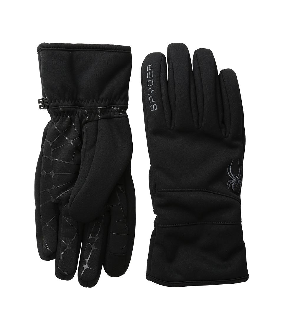Spyder Facer Conduct Ski Glove (Black/Polar) Ski Gloves