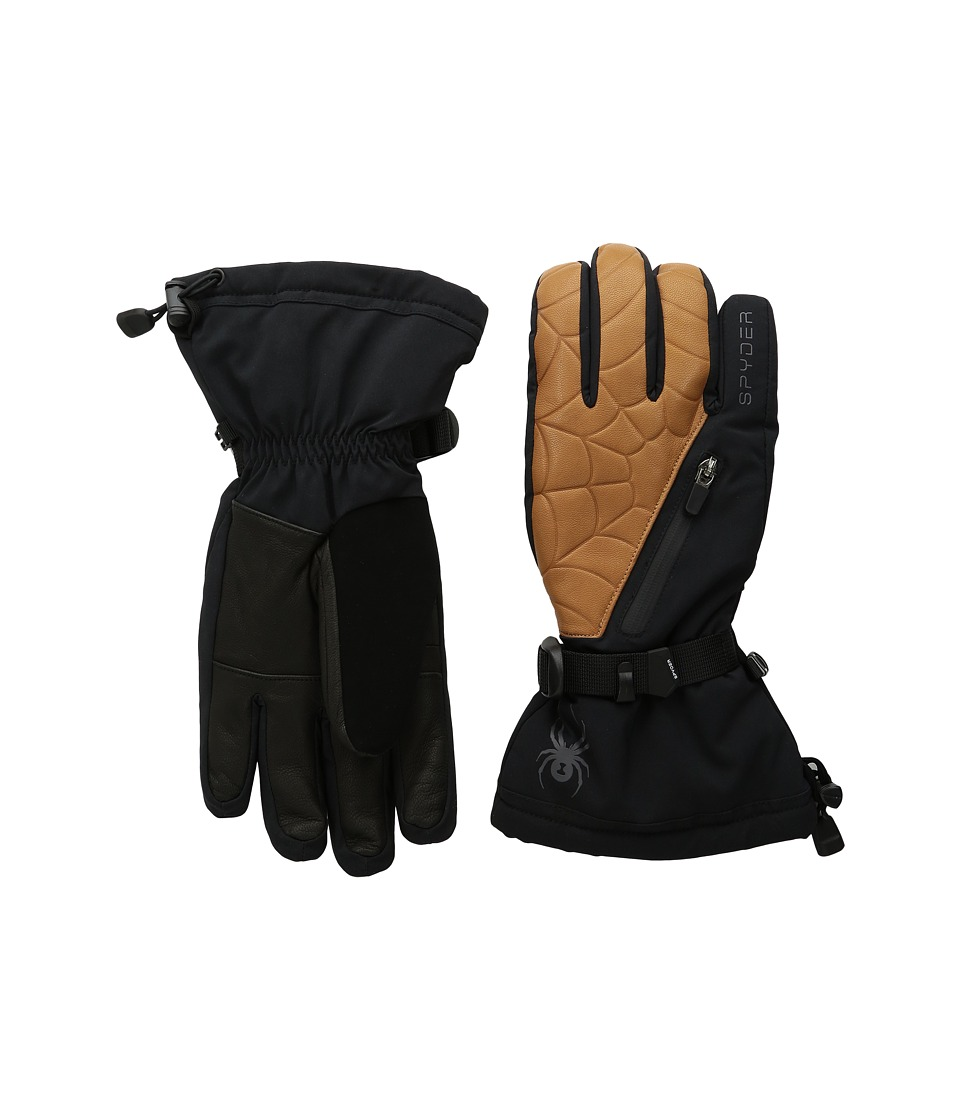 Spyder Omega Conduct Ski Glove (Black/Natural) Ski Gloves