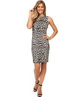 MICHAEL Michael Kors - Sleeveless Cheetah Yoke Dress