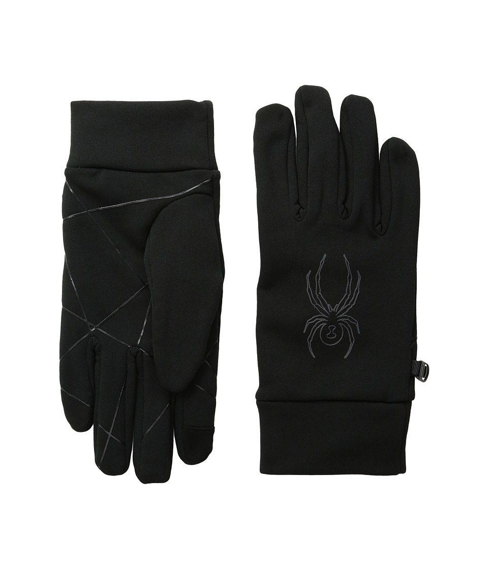 Spyder Stretch Fleece Conduct Glove (Black 1) Ski Gloves