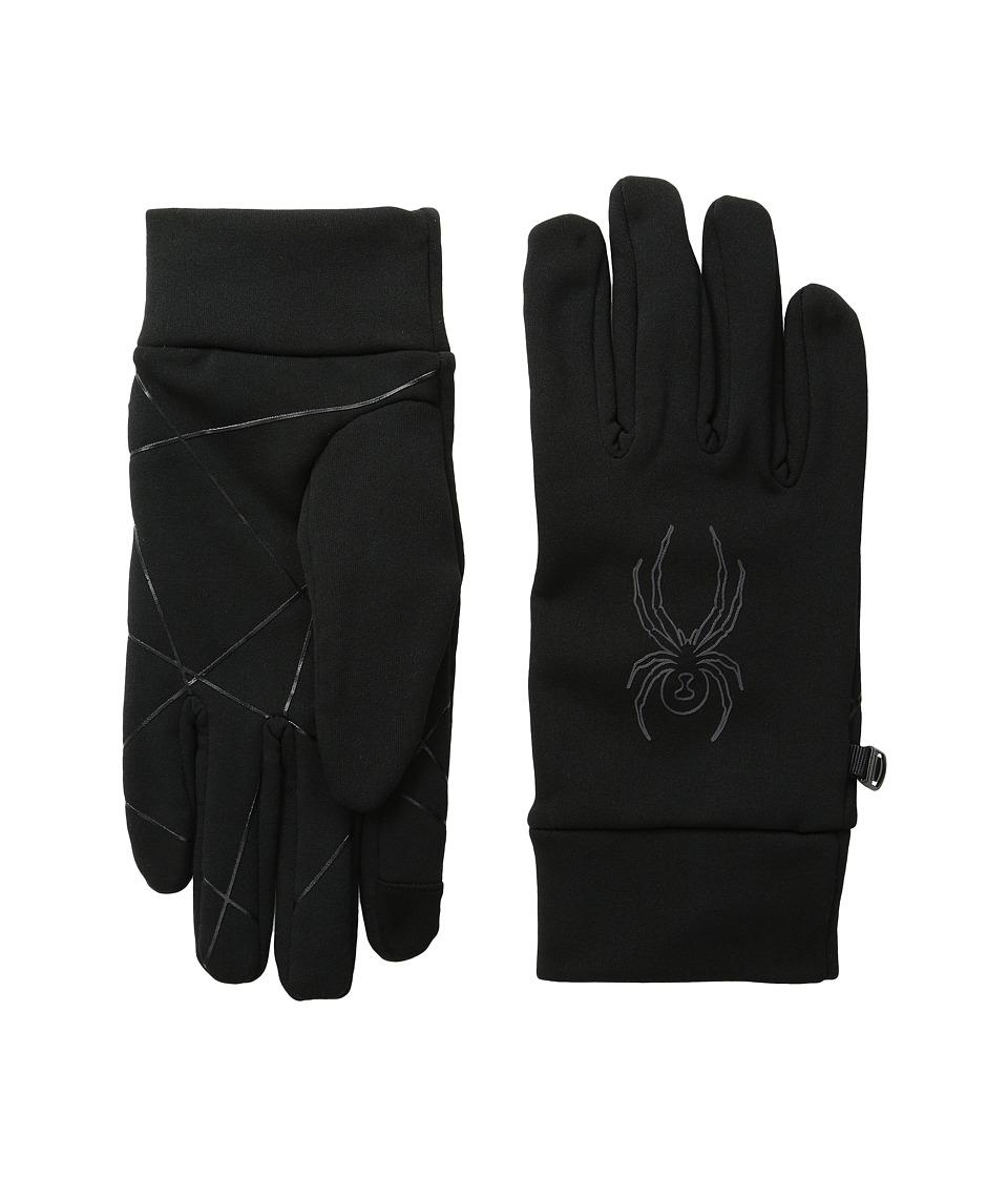 Spyder Stretch Fleece Conduct Glove (Black 1) Ski Gloves