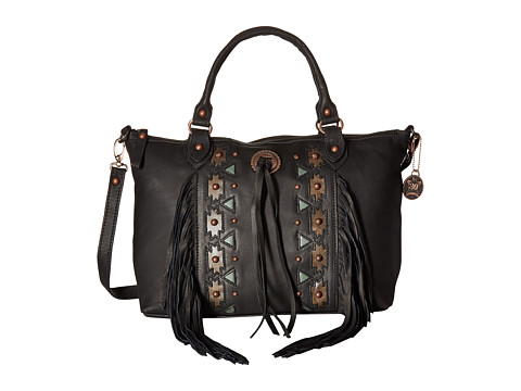 American West Chenoa Large Zip Top Convertible Satchel