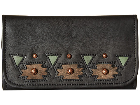 American West Chenoa Trifold Wallet - Black