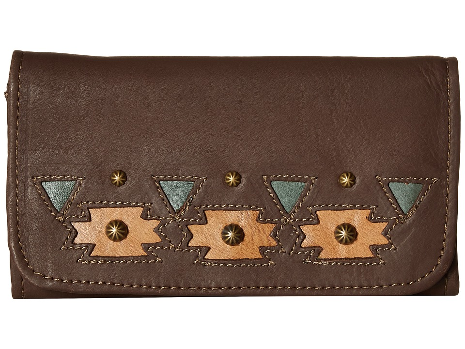 American West - Chenoa Trifold Wallet (Chocolate) Wallet Handbags