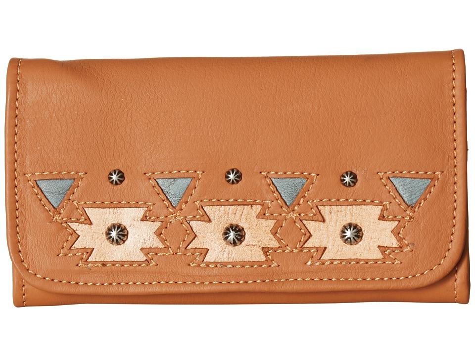 American West - Chenoa Trifold Wallet (Golden Tan) Wallet Handbags