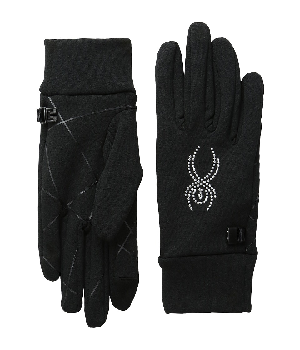 Spyder Stretch Fleece Conduct Glove (Black/Silver) Extreme Cold Weather Gloves