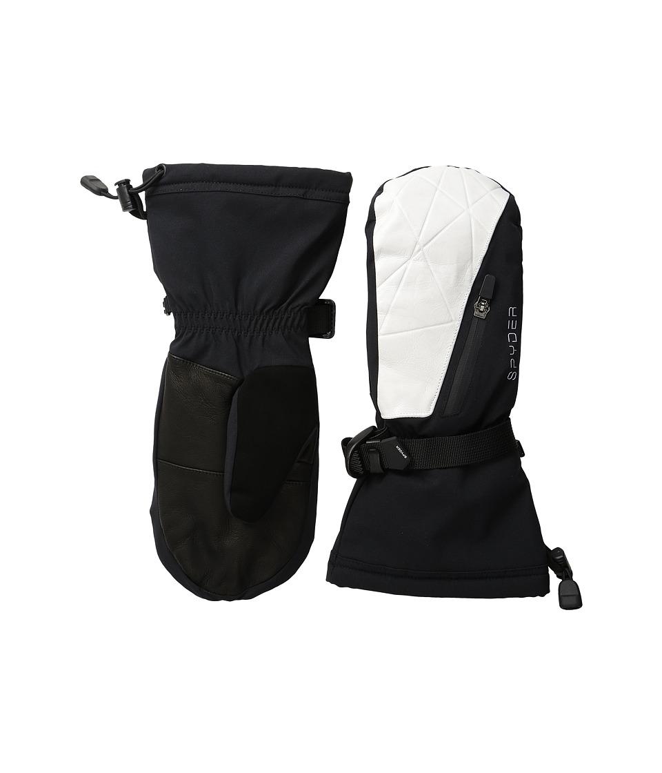 Spyder Omega Ski Mittens (Black/White) Ski Gloves