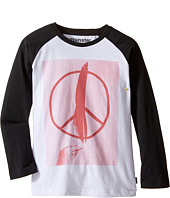Munster Kids - Peace Feather Long Sleeve T-Shirt (Toddler/Little Kids/Big Kids)
